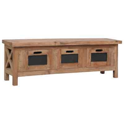 vidaXL Solid Mahogany Wood TV Cabinet with 3 Drawers