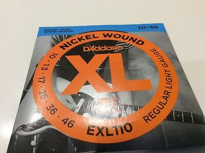 DAddario EXL110 GUITAR STRINGS  NICKLE WOUND