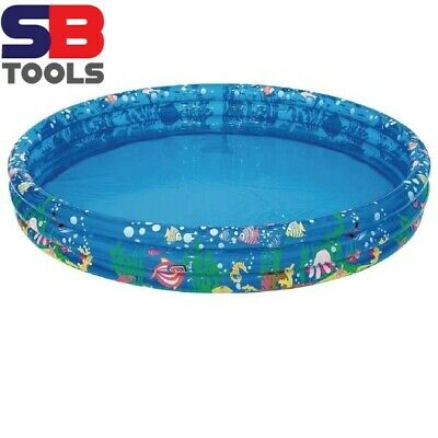 3 RING PADDLING POOL 120CM (JUST UNDER 4 FT) 25CM DEEP (JUST