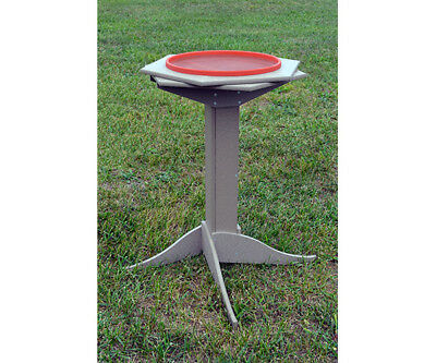 Songbird Essentials Poly Wood Pedistal Heated Bird Bath and