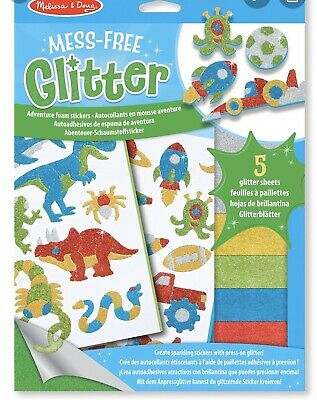 Melissa & Doug Mess-Free Glitter Craft Kit Adventure Foam