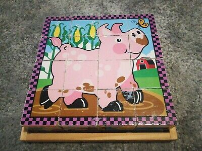 Melissa and Doug Cube Puzzle - Farm 6-in-1 Puzzle
