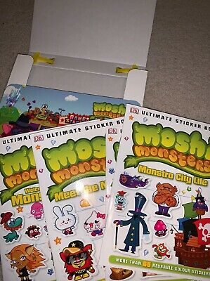 Moshi Monsters Ultimate Sticker Book Collection 1 Book Half