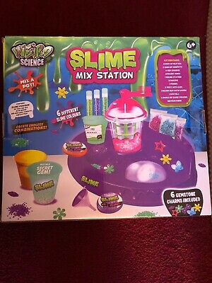 Weird Science Slime Mix Station Glitter Gemstone Charms Toy