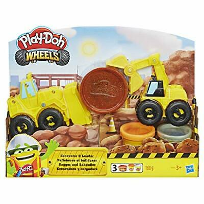 PLAY-DOH Wheels Excavator and Loader Toy Construction