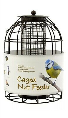 Green Jem Dome Shaped Caged Nut Wild Bird Feeder, Brown