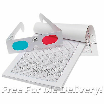 3D DRAWING PAD - Draw On The Pad & View Through 3D Specs!!!