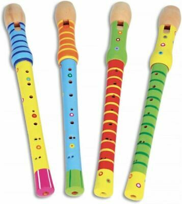 Musical Instruments - Flute in Wood Assorted Colours -