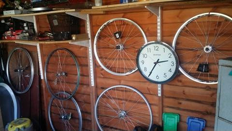 New and used road/MTB wheels, used seat posts and seats,