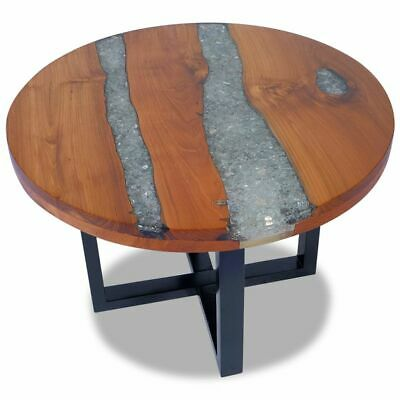 vidaXL Coffee Table End Side Teak Resin 60 cm Living Room