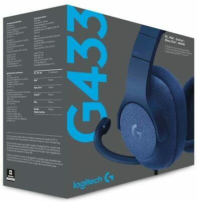 Logitech G Surround Gaming Headset BLUE PC PS4 Switch