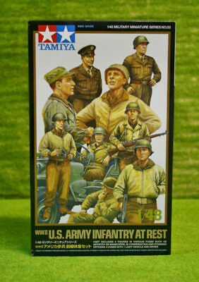 Tamiya WWII US ARMY INFANTRY AT REST & JEEP 1/48 Scale Kit