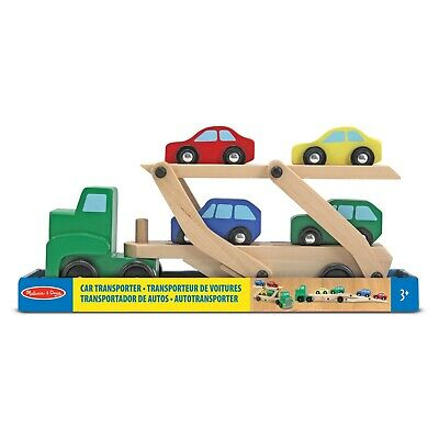 Melissa & Doug Wooden Car Transporter Truck with Cars