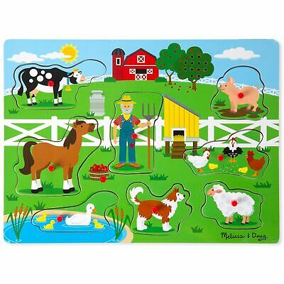 Melissa and Doug Sound Jigsaw 8-Piece Kids Puzzle – Old