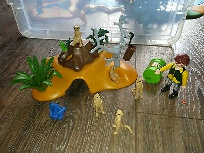 Playmobil Complete  Meerkat Family / Zoo Add On Set (No