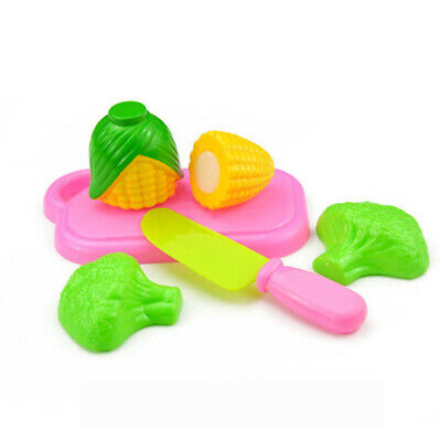 Fruit Vegetable Food Cutting Set Pretend Role Play Kitchen