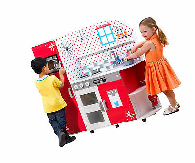 Plum Cookie Interactive Wooden Role Play Kitchen