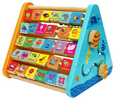 TOWO Wooden Activity Centre Triangle toys - Wooden Alphabet
