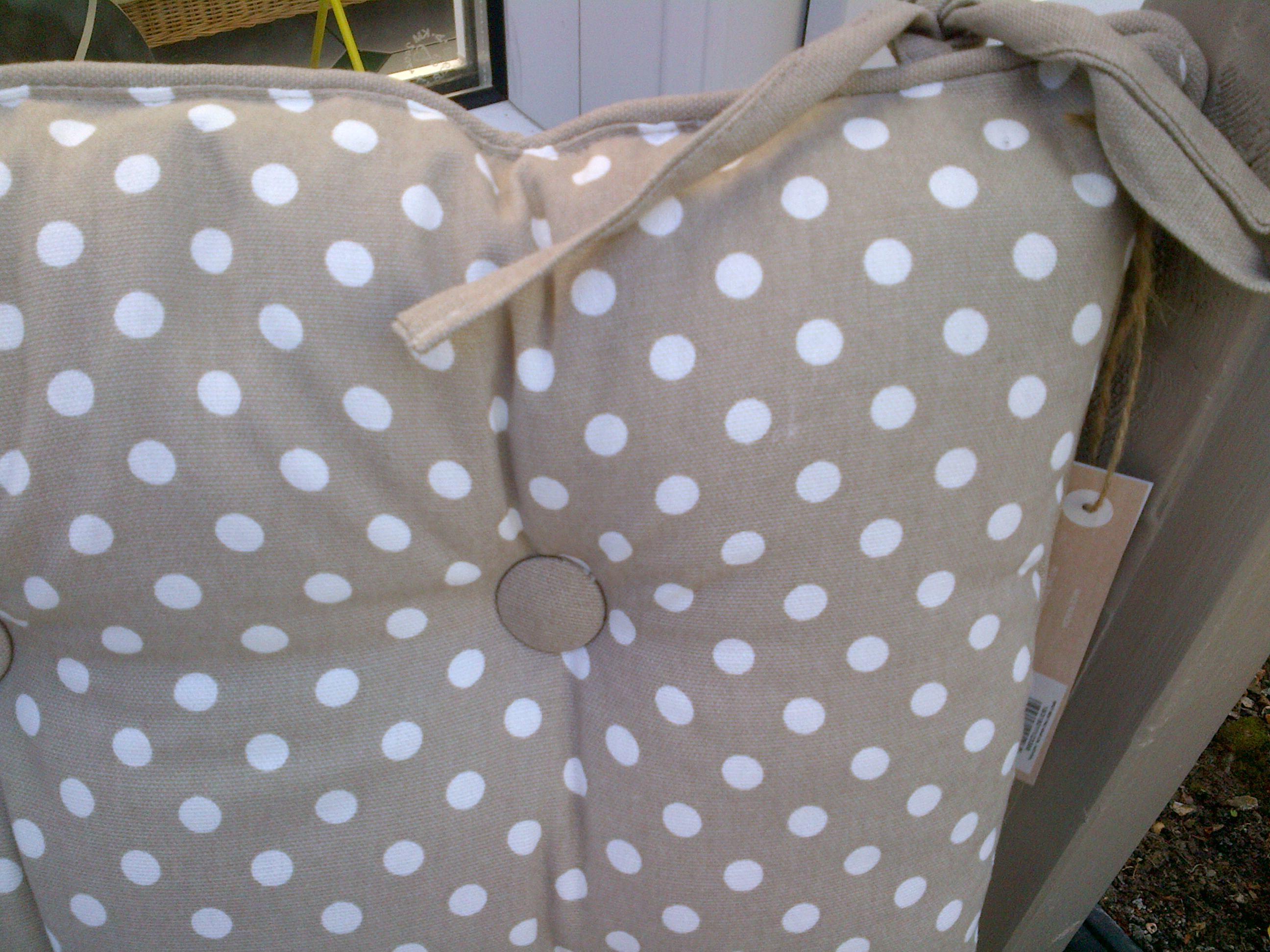NEW 100% COTTON Seat Pads with Ties / Cushions - 40cm x 40cm