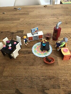 PLAYMOBIL Living Room with Fireplace Dolls House - Dollhouse