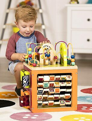 Toddler Wooden Activity Cube Educational Learning Toy Best