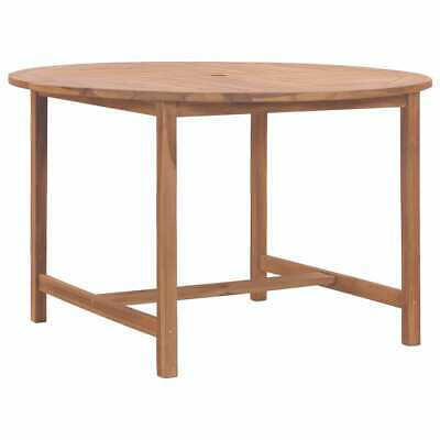 vidaXL Solid Teak Wood Garden Table 120cm Kitchen Dining
