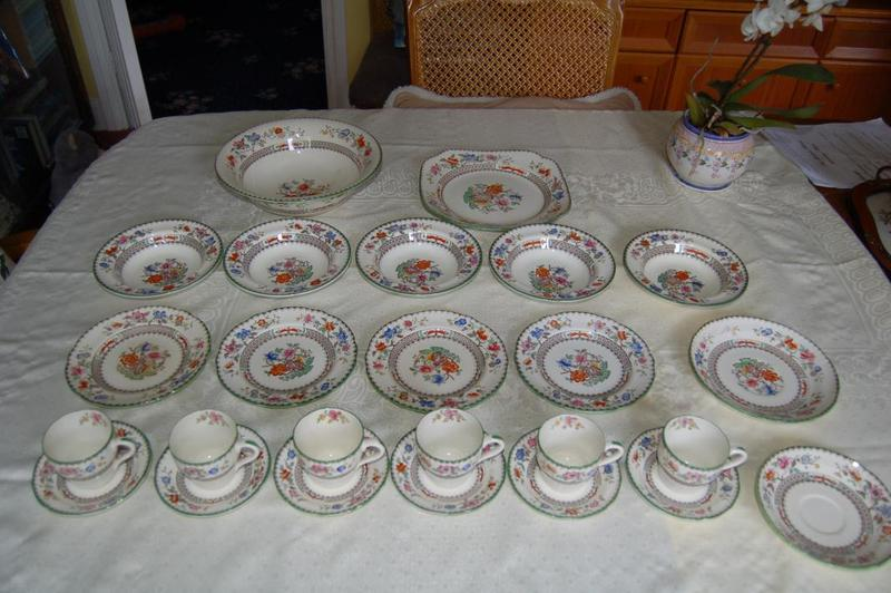 Beautiful Chinese Rose China by Spode, Part Set of 36 Items,