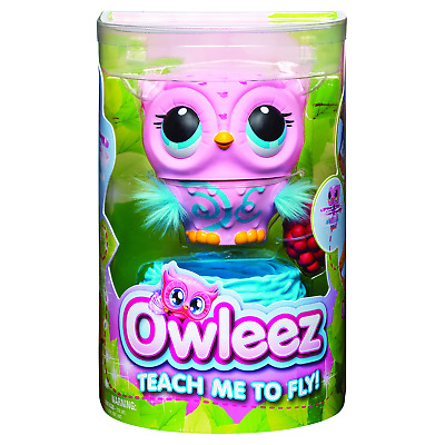 Owleez Pink Flying Baby Owl Interactive Toy with Lights and