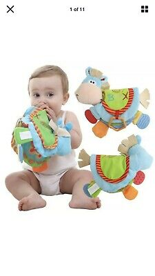 Newborn Baby Happy Study Donkey Toys Cloth Book Intelligence