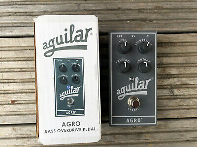 Aguilar AGRO Bass Electric Guitar Effects Overdrive Pedal &