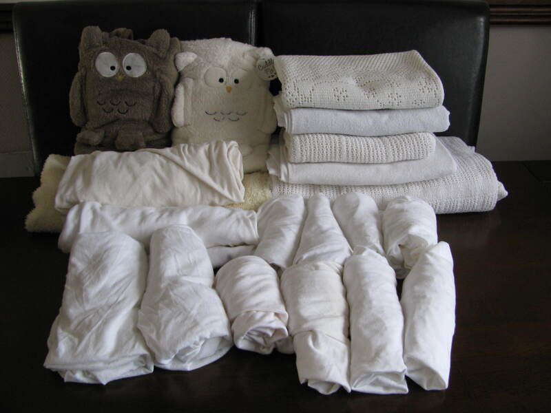 Baby Bedding Bundle - Assorted Blankets + Fitted Sheets -