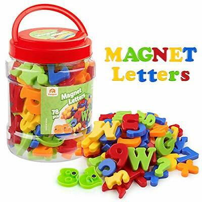 Coogam Uppercase Lowercase Magnetic Letters and Numbers for