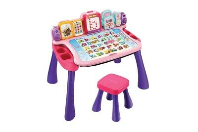 FRENCH VTech Touch&Learn Pink Activity Desk/Chair/4XA