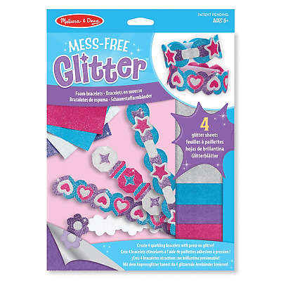 Melissa & Doug Mess-Free Glitter Foam Bracelets Craft Kit