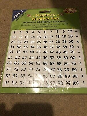 National Numeracy Strategy Magnetic Numbers 1 to 100 plus