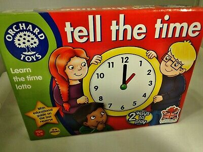Orchard Toys – Tell the Time Game Un-used New