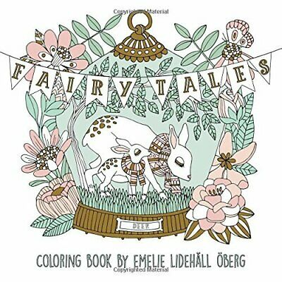 OBERG, M-FAIRY TALES COLORING BOOK NEW