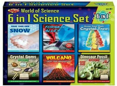 6 in 1 Science Set MYO Volcano Tornado Crystal Gems Dinosaur