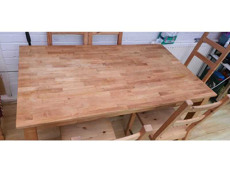 solid wood extending dining table with chairs for sale
