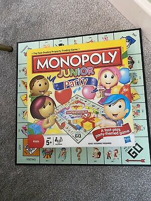 Monopoly Junior Kids Party Board Game by Hasbro Age 5+