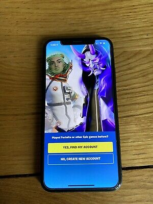 Apple iPhone X - 64GB - Space Grey With Fortnite Installed