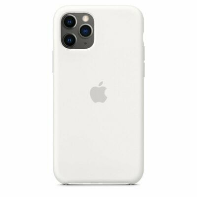 iPhone 11 Pro Silicone Case - White apple
