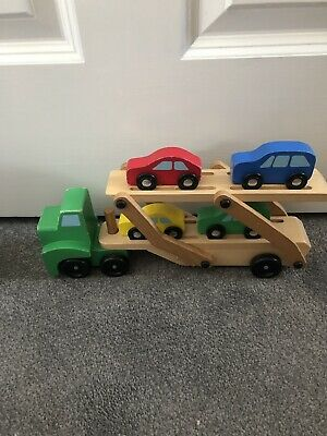 Melissa & Doug Car Transporter 4 Wooden Toys