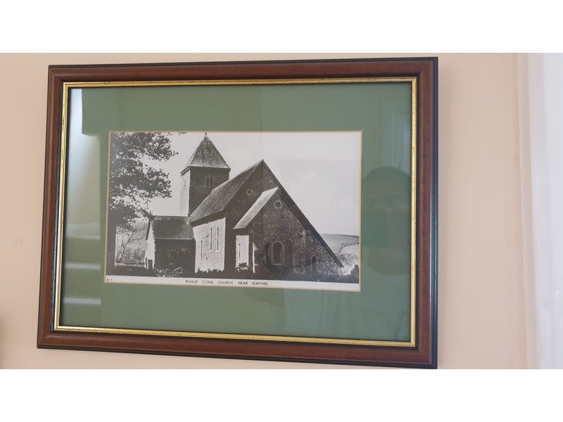 Two professionally framed photos of historic Seaford