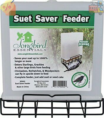 Songbird Essentials Suet Saver Suet Bird Feeder