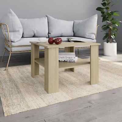 vidaXL Coffee Table Sonoma Oak Chipboard Couch Dining
