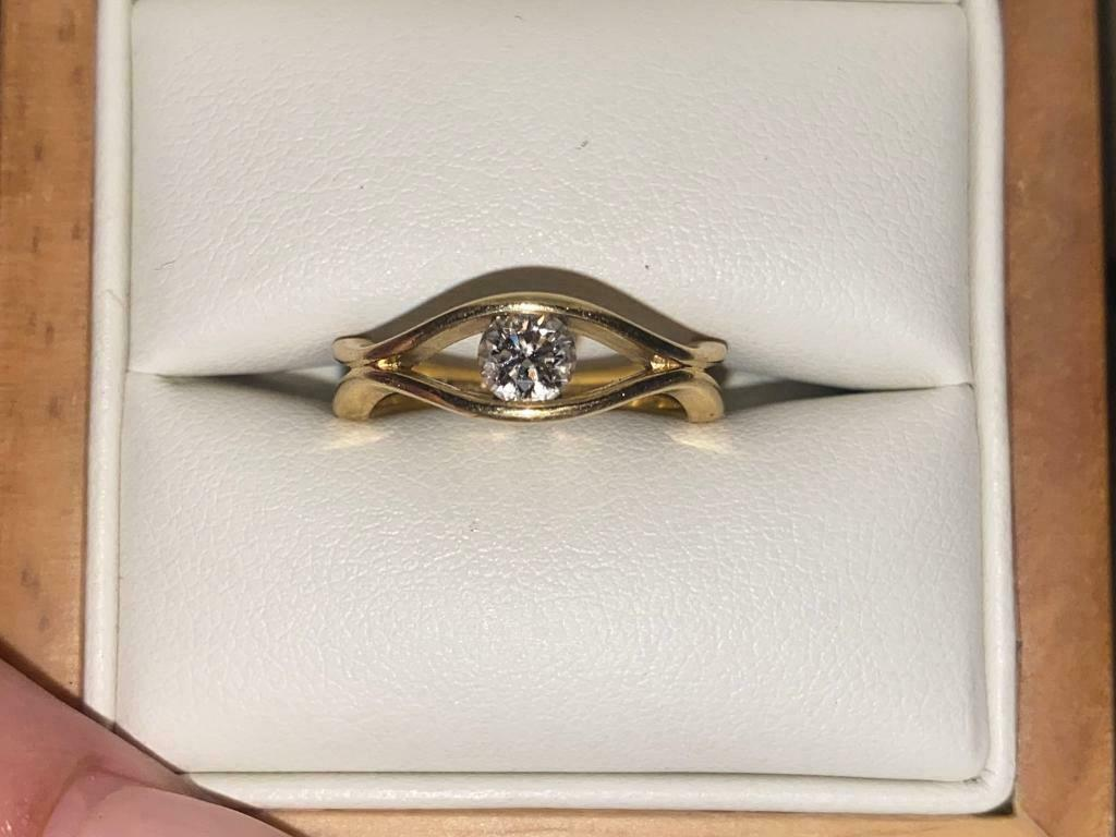 GIA Certified Diamond Engagement Ring - Worth £k Yellow Gold 0.36 carat