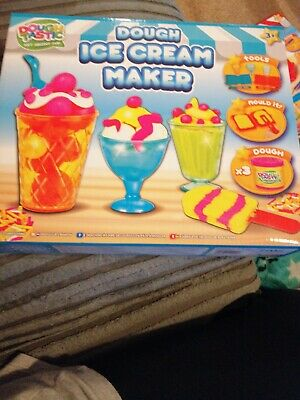 Kids Children Ice Cream Dough Craft Gift Set Tubs And Shapes