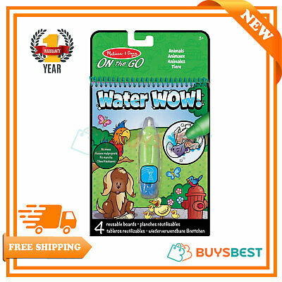 Melissa & Doug On the Go Water Wow! Animals Water Reveal Pad