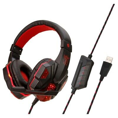SY830 Wired Earphone Gaming Headset PC Gamer Stereo